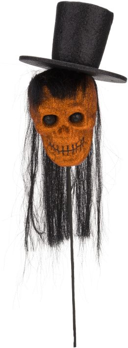 Mark Roberts Lifesize Skeleton Head Pick - 31.5 Inches