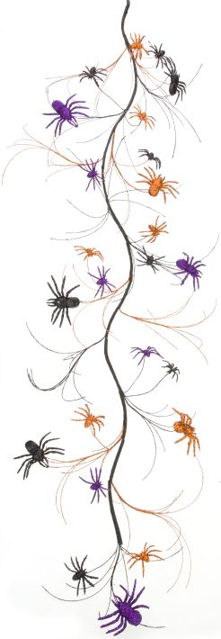Mark Roberts Multi Spider Garland - 5.75 Feet