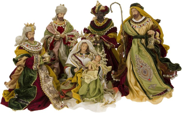 Florentine Nativity Scene Set of 5