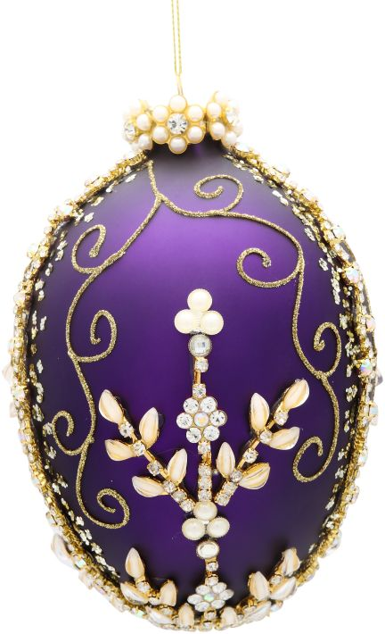 Faberge Lily of the Valley Jeweled Ornament 36-60274